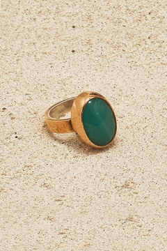 Mr. Blackbird Copper Agate Ring - Product List Image