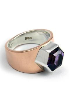 Shoptiques Product: Copper Amethyst Ring