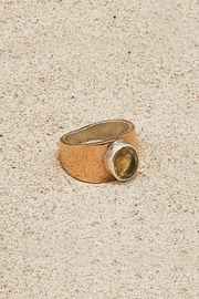 Mr. Blackbird Copper Citrine Ring - Front cropped