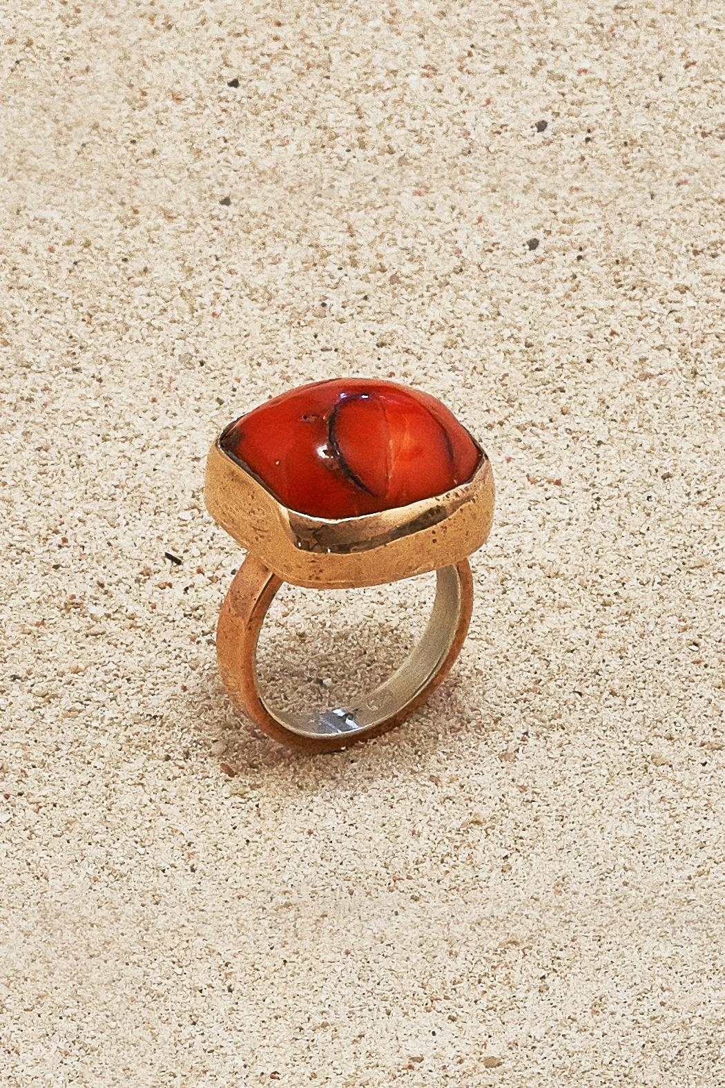 Mr. Blackbird Copper Coral  Ring - Main Image