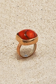 Mr. Blackbird Copper Coral  Ring - Front cropped