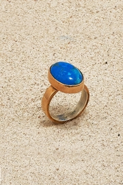 Mr. Blackbird Copper Howlite Ring - Front cropped