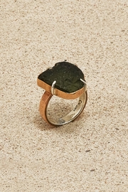 Mr. Blackbird Copper Moldavite Ring - Product Mini Image