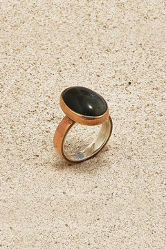 Mr. Blackbird Copper Obsidian Ring - Product List Image