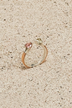 Shoptiques Product: Copper/Silver Tourmaline Ring
