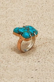 Mr. Blackbird Copper Turquoise  Ring - Product Mini Image