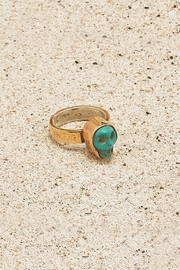 Mr. Blackbird Copper Turquoise-Skull Ring - Product Mini Image