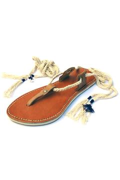 Mr. Blackbird Leather Lace-Up Sandal - Product List Image