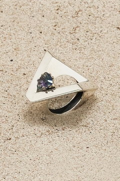 Shoptiques Product: Silver Topaz Ring