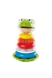 Hape  Mr. Frog Stacking Rings - Side cropped