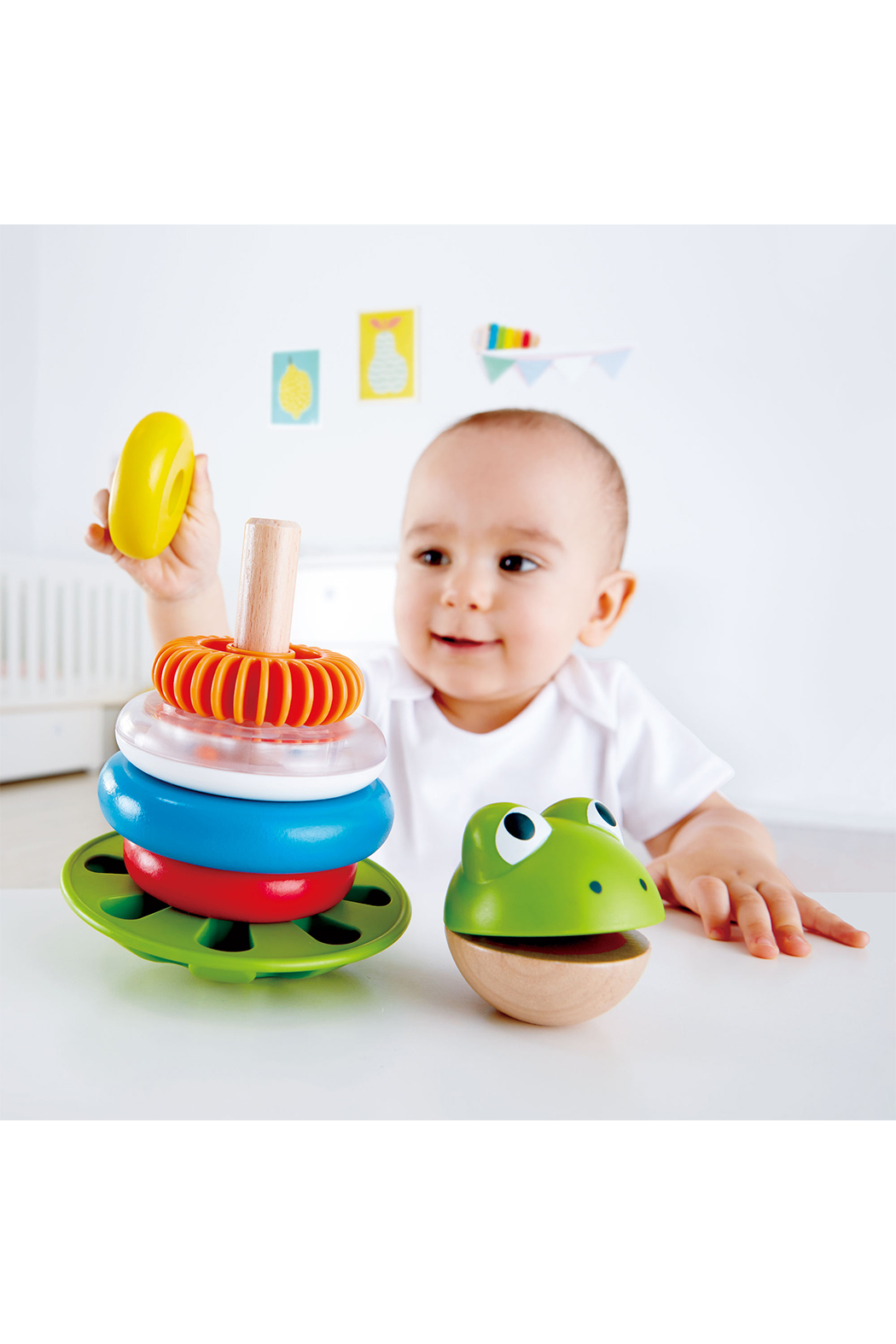 Hape  Mr. Frog Stacking Rings - Front Full Image