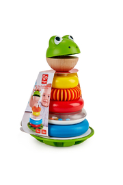 Hape  Mr. Frog Stacking Rings - Front cropped