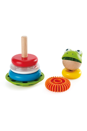 Hape  Mr. Frog Stacking Rings - Back cropped