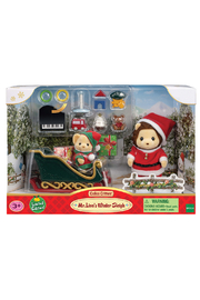 Calico Critters Mr. Lion's Winter Sleigh - Product Mini Image
