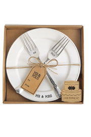 Mud Pie  Mr. & Mrs. Cake Tasting Set - Product Mini Image