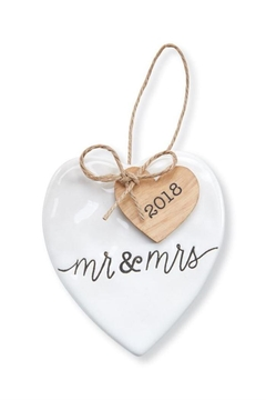 Mud Pie Mr & Mrs Ornament - Product List Image