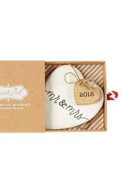 Mud Pie Mr & Mrs Ornament - Alternate List Image
