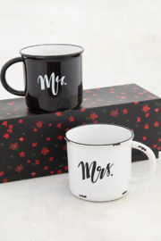 Natural Life Mr, Mrs Set Of 2 Camp Mugs - Product Mini Image