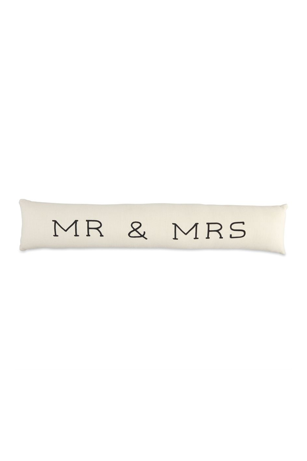 Mud Pie  Mr. & Mrs. Skinny Pillow - Front Cropped Image