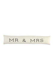 Mud Pie  Mr. & Mrs. Skinny Pillow - Front cropped