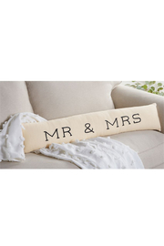 Mud Pie  Mr. & Mrs. Skinny Pillow - Product Mini Image