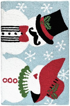 Jelly Bean Rugs Mr Mrs Snowman - Product List Image