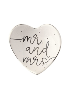 Shoptiques Product: Mr-&-Mrs Trinket Tray