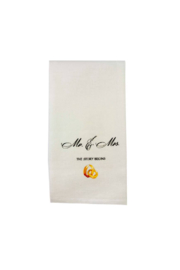 The Birds Nest MR & MRS WITH RINGS DISHTOWEL - Product Mini Image