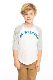 Chaser Mr. Weekend baseball tee - Front full body