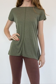 Mrena Olive Mesh T-Shirt - Product Mini Image