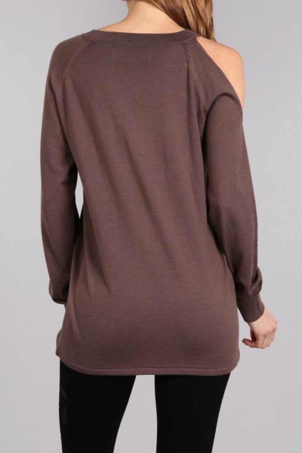 Mrena Oversized Sweater Top - Side Cropped Image