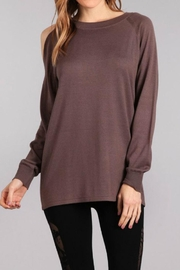 Mrena Oversized Sweater Top - Front cropped