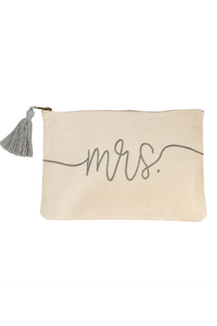 Mud Pie  MRS. Canvas Pouch - Product List Image