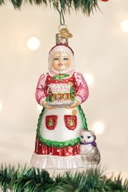 Old World Christmas Mrs Claus Ornament - Front cropped
