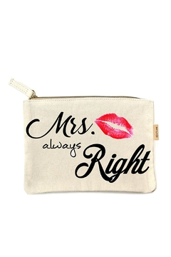Wild Lilies Jewelry  Mrs Right Pouch - Alternate List Image