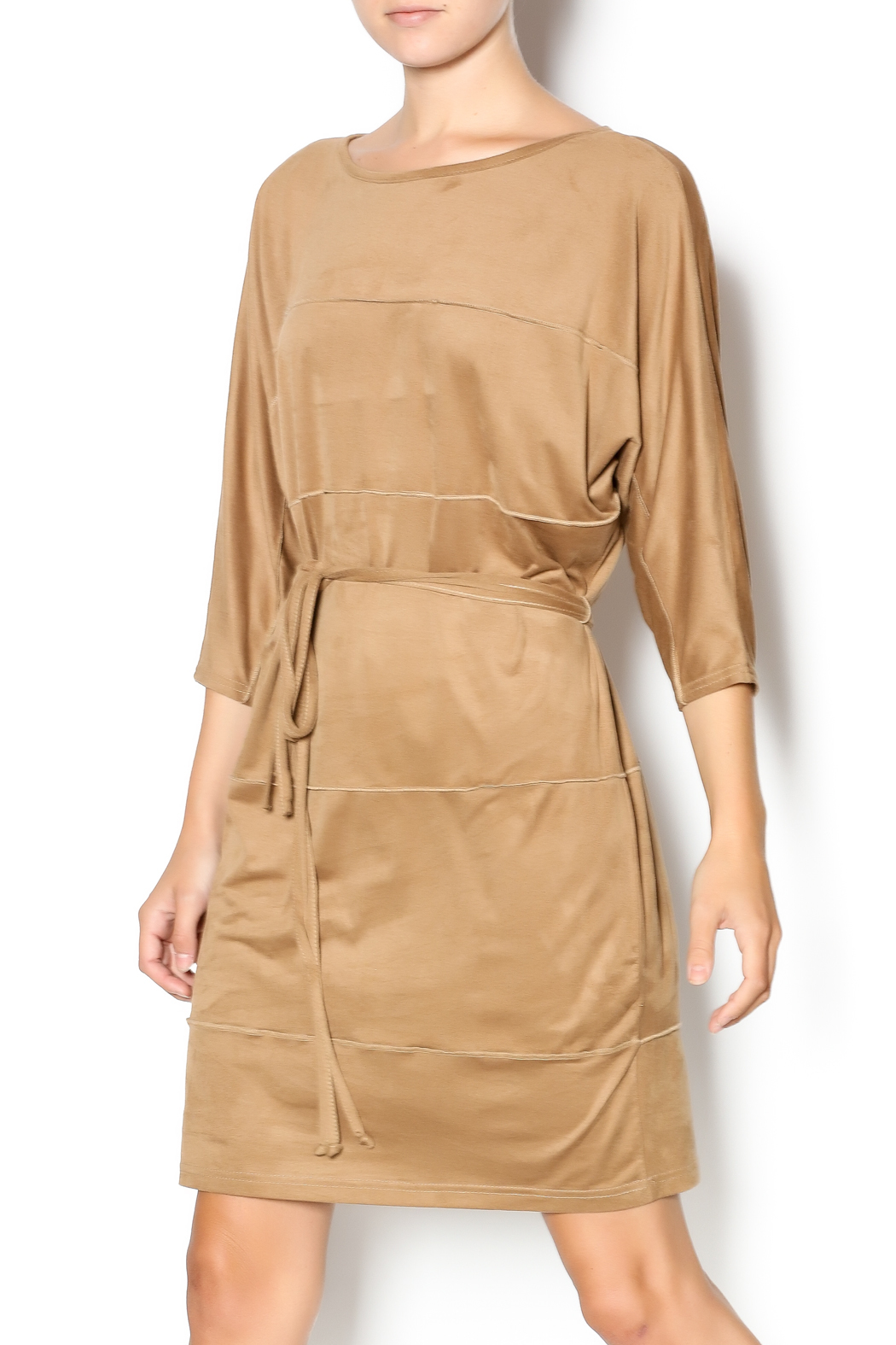 MSK Faux Suede Dress - Front Cropped Image
