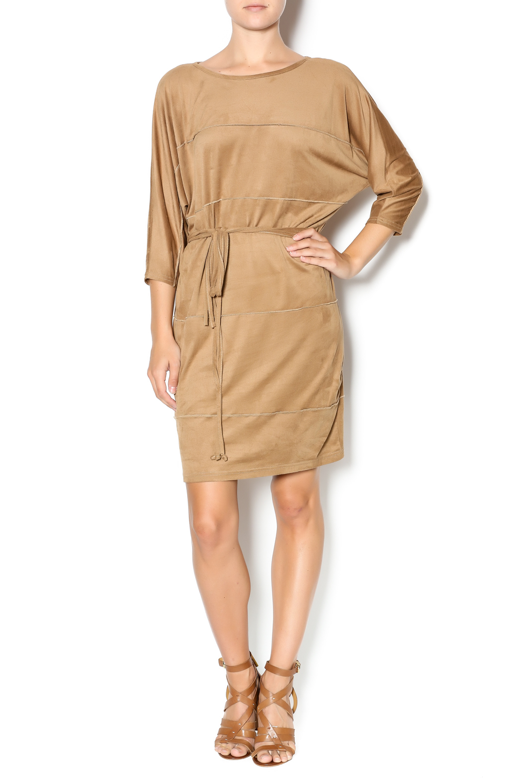MSK Faux Suede Dress - Front Full Image