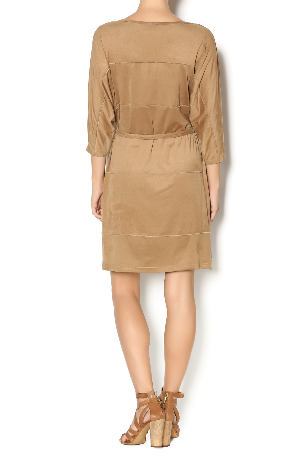 MSK Faux Suede Dress - Side Cropped Image