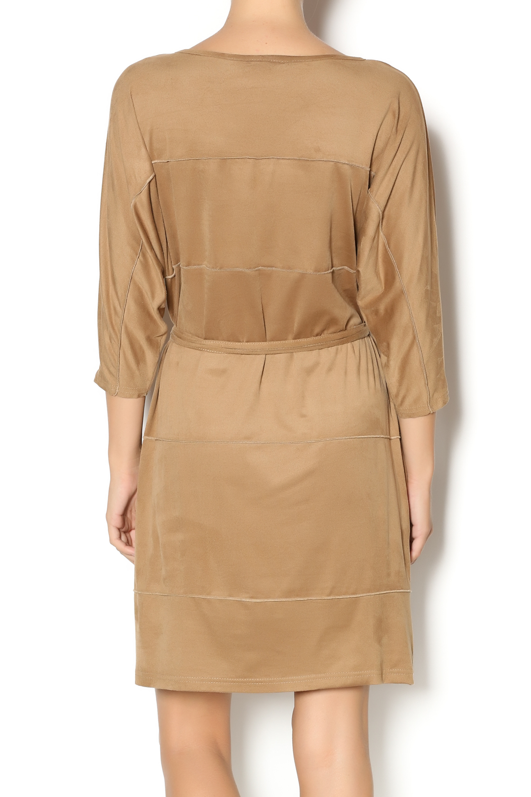 MSK Faux Suede Dress - Back Cropped Image
