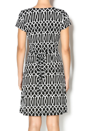 MT Collection Geometric Print Dress - Back cropped