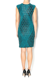 MT Collection Geometric Diamond Print Dress - Side cropped