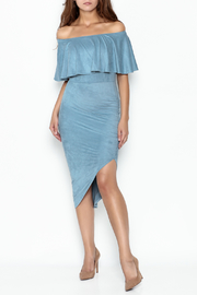 MT&PT Light Blue Suede Dress - Product Mini Image
