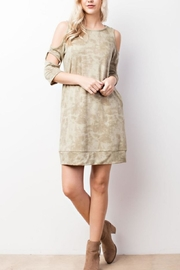 MTS Cold-Shoulder Pocket Dress - Product Mini Image
