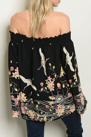 MTS Floral Crane Blouse - Front full body