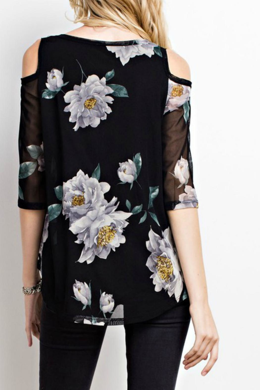 MTS Floral Mesh Top - Front Full Image