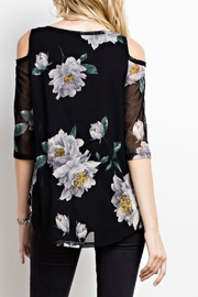 MTS Floral Mesh Top - Front full body