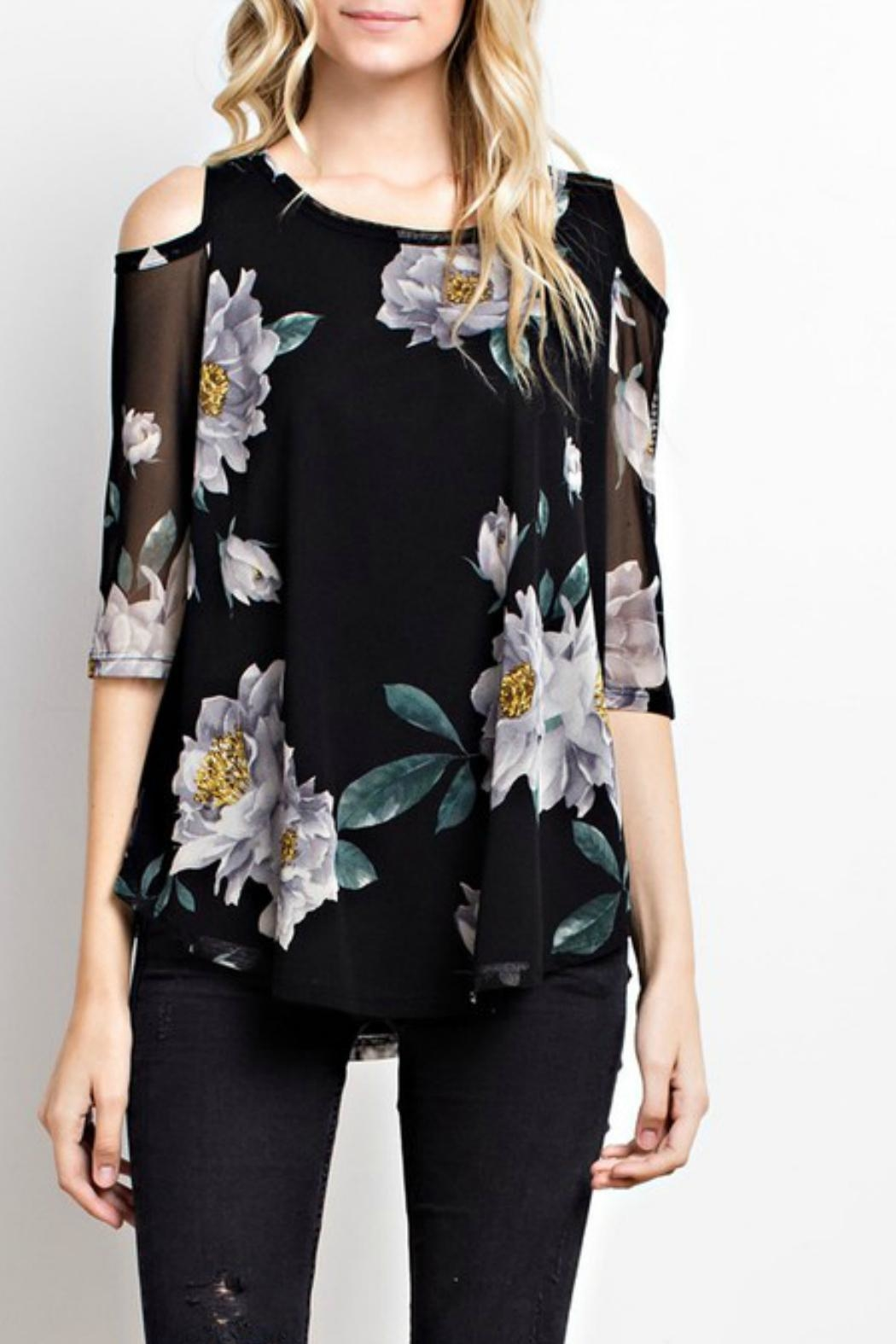 MTS Floral Mesh Top - Front Cropped Image