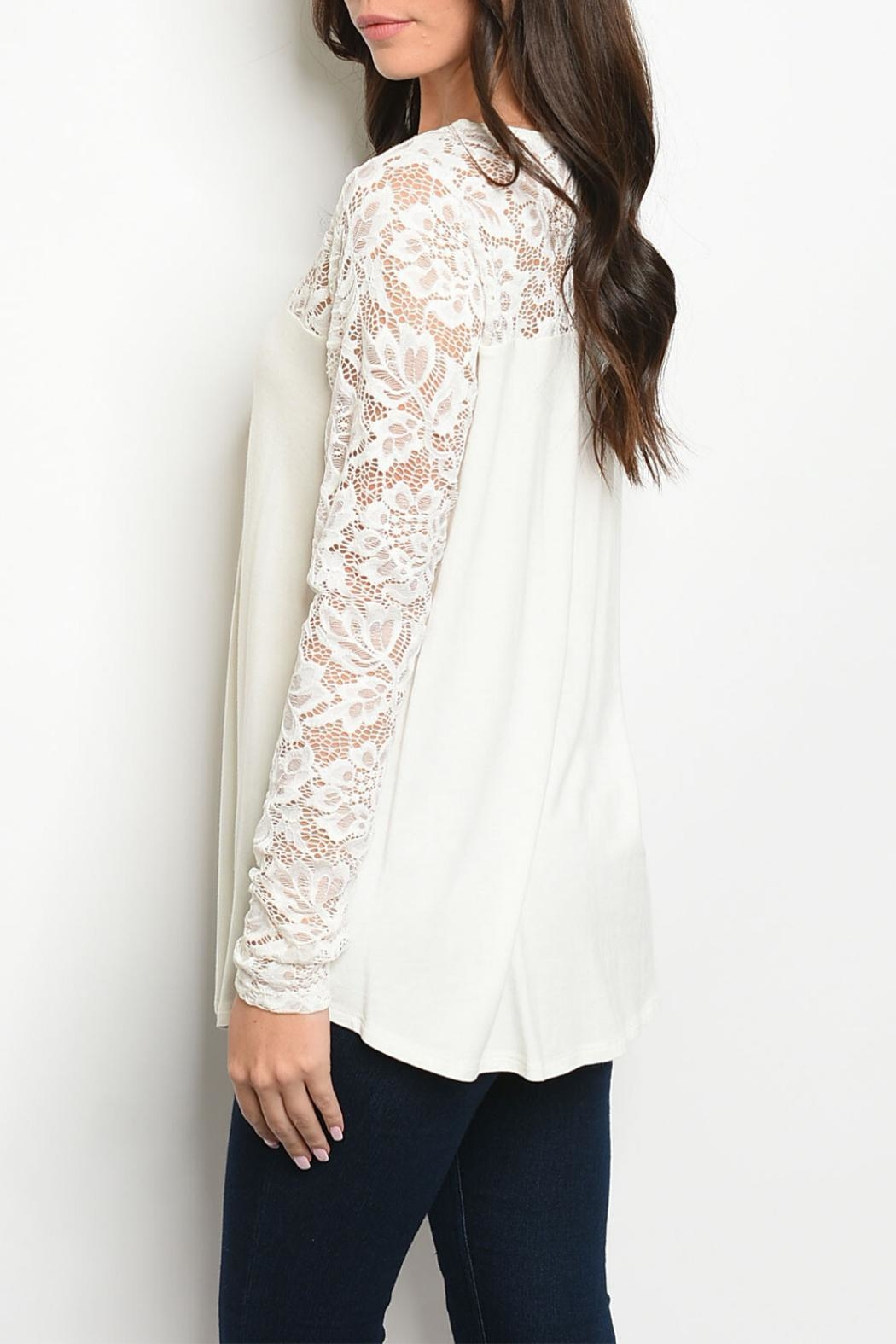 MTS Ivory Lace Tunic - Front Full Image