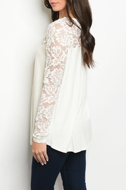 MTS Ivory Lace Tunic - Front full body