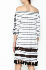 Muche et Muchette Striped Embroidered Dress - Back cropped